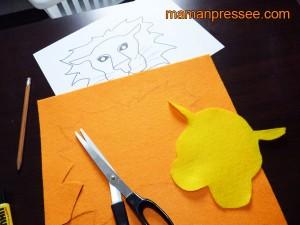 Fabriquer un masque de lion