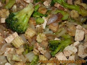 Poêlée au Tofu et Brocoli